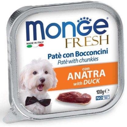 Monge Fresh kutya tálka adult kacsa 100g