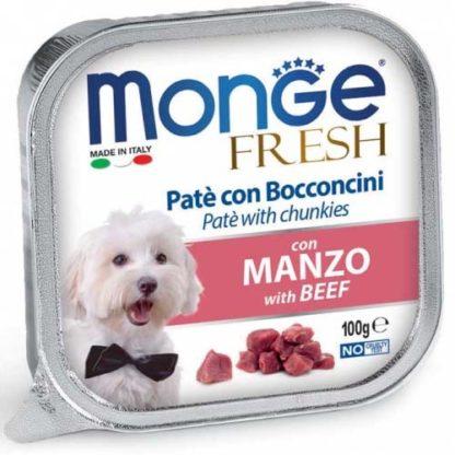 Monge Fresh kutya tálka adult marha 100g