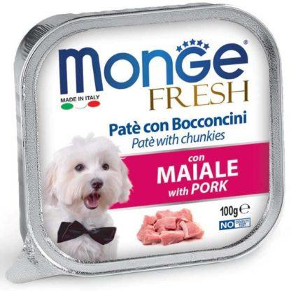 Monge Fresh kutya tálka adult sertés 100g