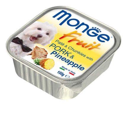 Monge Fruit kutya tálka adult sertés&ananász 100g