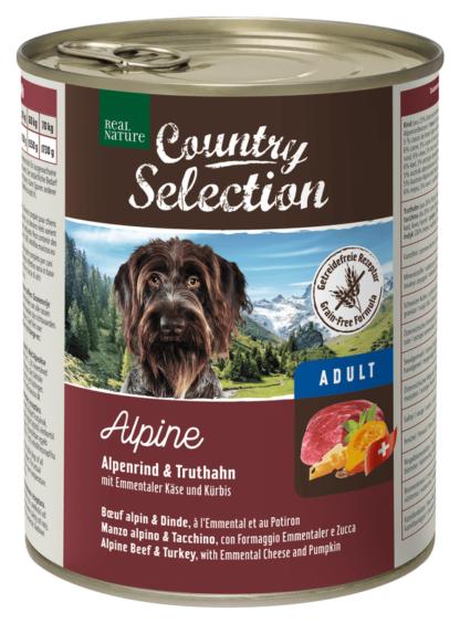 REAL NATURE Country kutya konzerv adult pulyka&marha 6x800g