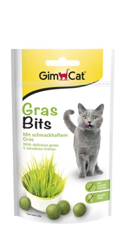GimCat Gras Bits macska jutalomfalat zöld fű 40g