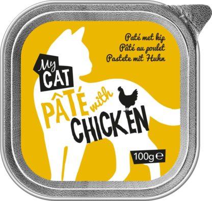 MyCat macska tálka adult csirke 16x100g