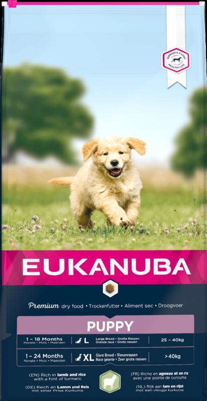 Eukanuba kutya szárazeledel Large Breeds puppy bárány&rizs 12kg