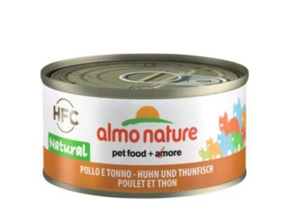 Almo Nature macska konzerv csirke&tonhal 24x70g