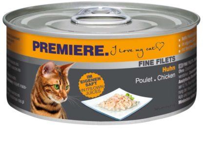 Premiere Fine Filets macska konzerv adult csirke 12x80g