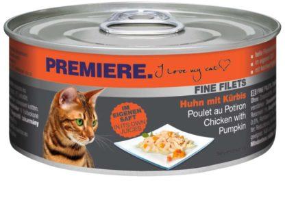 Premiere Fine Filets macska konzerv adult csirke&tök 12x80g