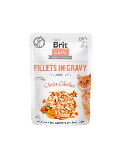 Brit Care macska tasak adult gravy csirke 85g