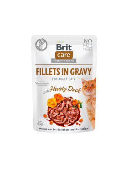Brit Care macska tasak adult gravy kacsa 85g