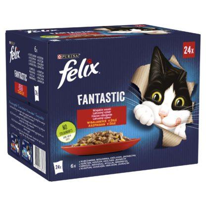 Felix Fantastic macska tasak MP házias válogatás aszpik 24x85g