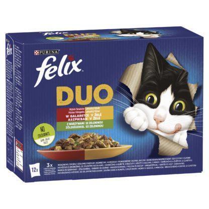Felix Fantastic Duo macska tasak MP házias válogatás zöldséggel 12x85g