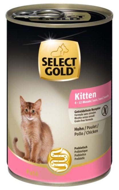 Select Gold macska konzerv kitten csirke 400g