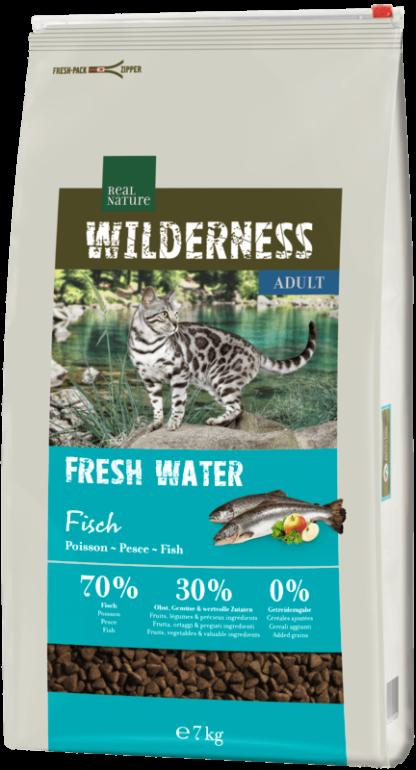Real Nature Wilderness száraz macskaeledel adult hering&lazac 7kg