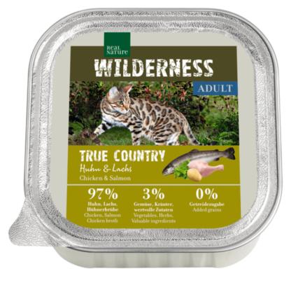 Real Nature Wilderness macska tálka adult True Country csirke&lazac 16x100g