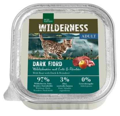 Real Nature Wilderness macska tálka adult Dark Fjord vaddisznó&kacsa&rénszarvas 16x100g