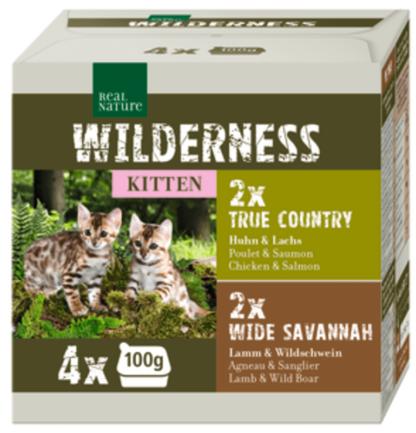 Real Nature Wilderness macska tálka MP kitten vegyes 4x100g