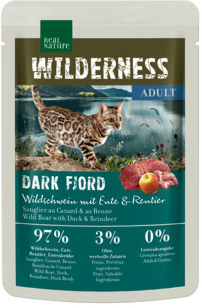 Real Nature Wilderness macska tasak adult Dark Fjord vaddisznó&kacsa&rénszarvas 85g