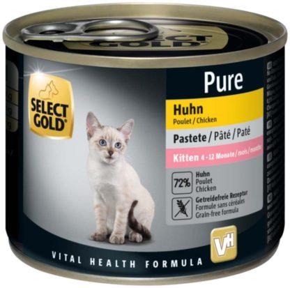 Select Gold Pure macska konzerv kitten csirke 200g