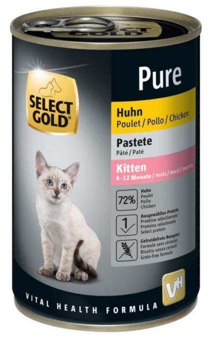Select Gold Pure macska konzerv kitten csirke 400g