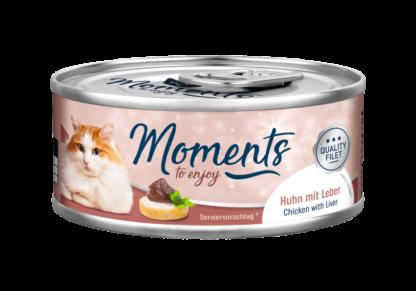 Moments macska konzerv adult csirke&máj 70g