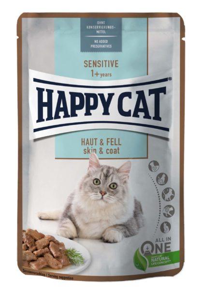 Happy Cat Sensitive macska tasak bőr&szőr 85g