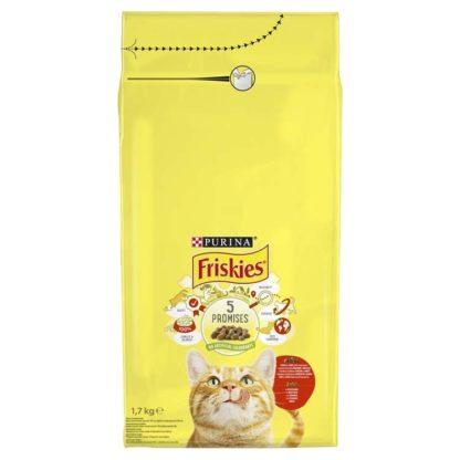 Friskies macska szárazeledel hús&csirke&zöldség 1,7kg